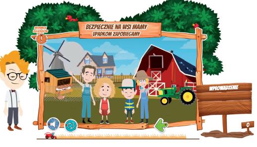 """KRUS zaprasza dzieci do wzięcia udziału w kursie e-learningowym """"Bezpiecznie na wsi mamy - upadkom zapobiegamy"""""""